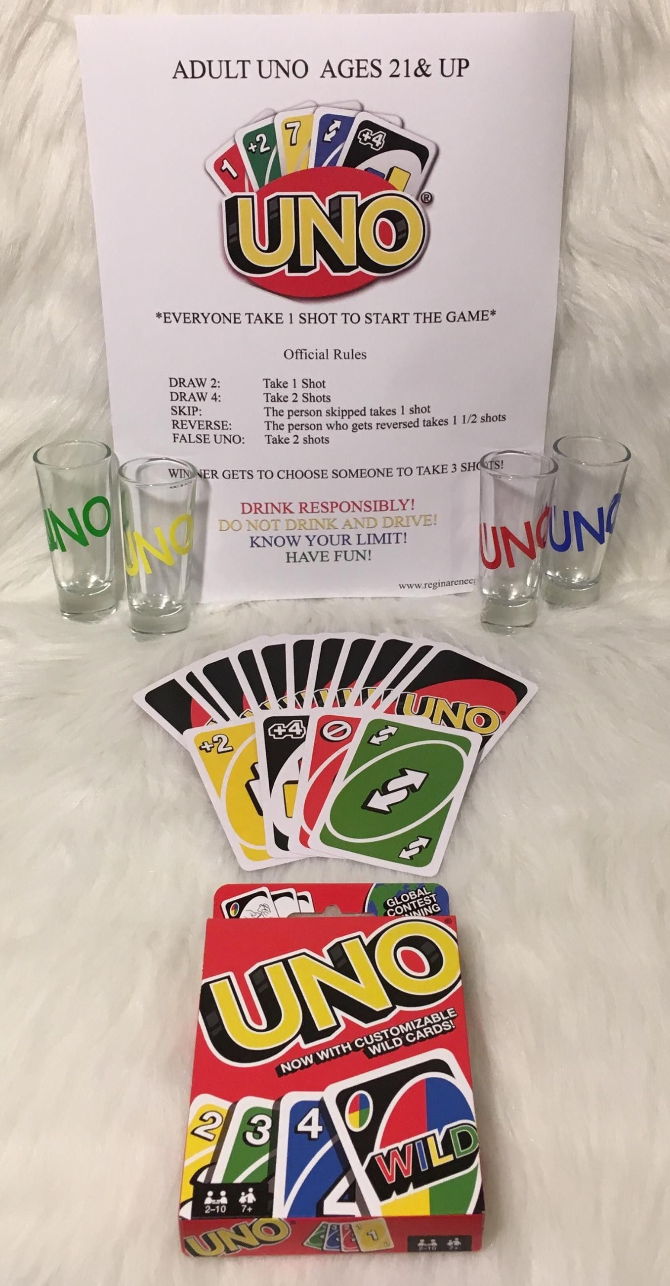 UNO Shot Glasses! Any Theme! Any Event! New Designs added