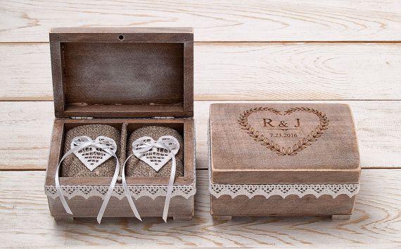 Ring Bearer Box Ehering Box benutzerdefinierte Holz Ehering  Hand in Hand  Ringe Ehering box