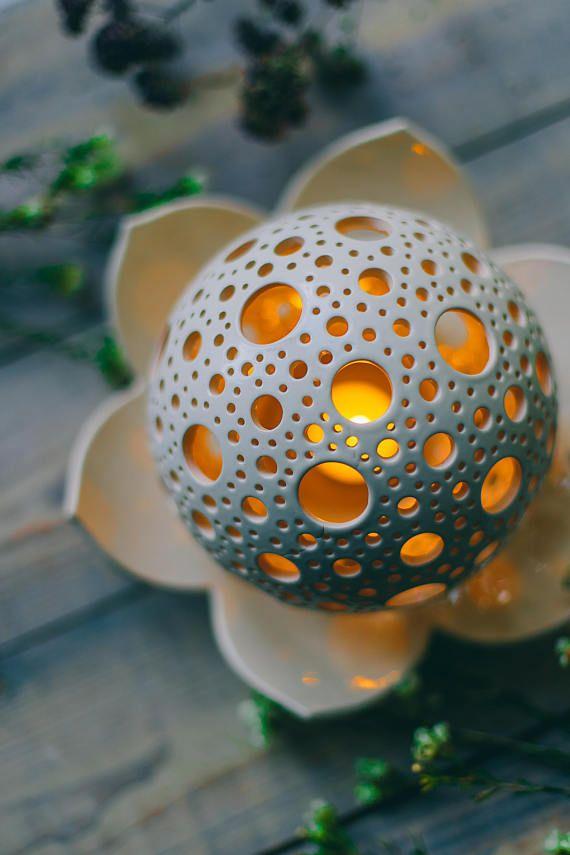 Lotus Candle Lantern, Mood Lighting for Home Decor