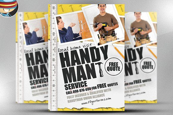 Handyman Services Flyer \ Ad Template - Word \ Publisher - handyman flyer template