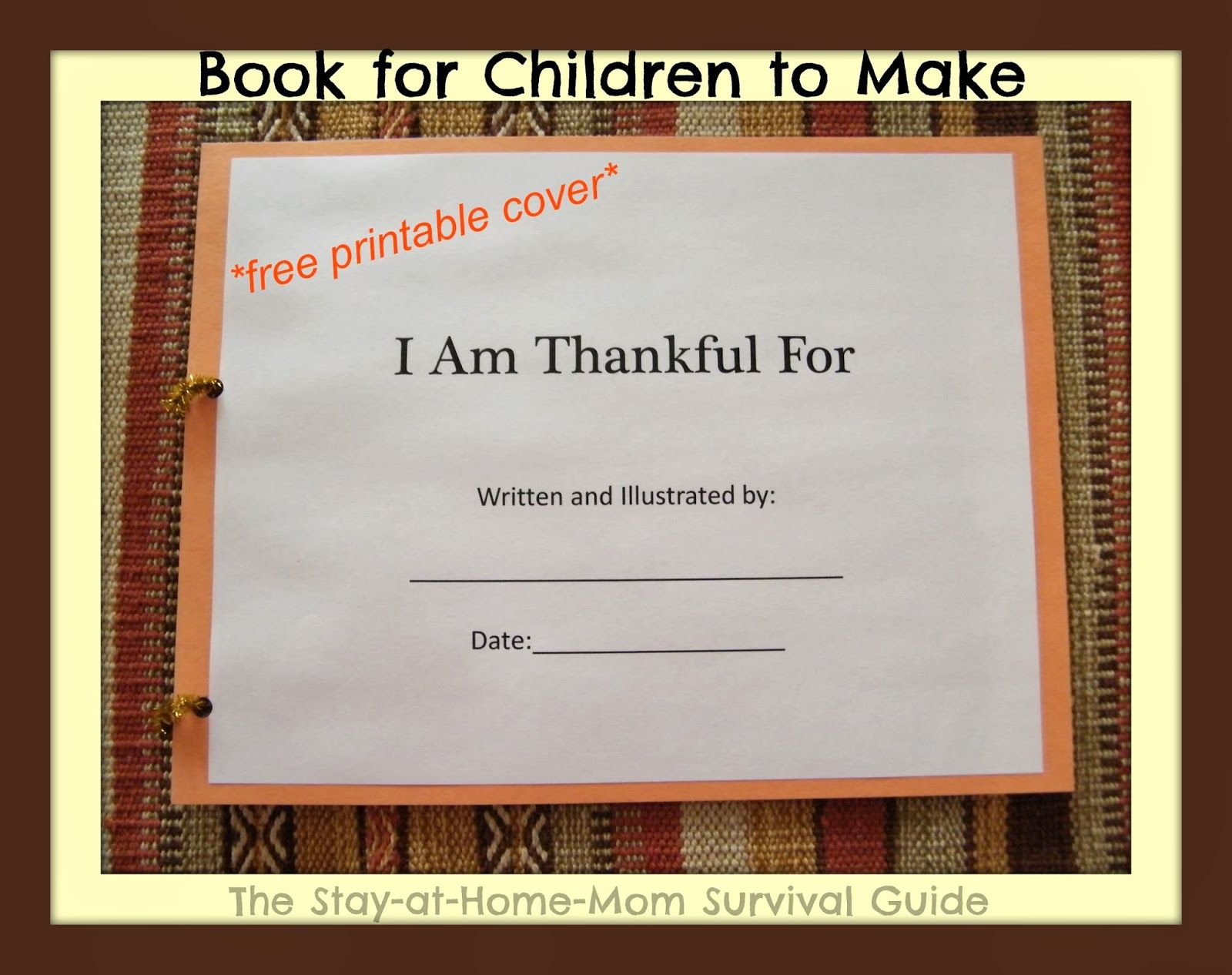i am thankful book for children to make survival guide child