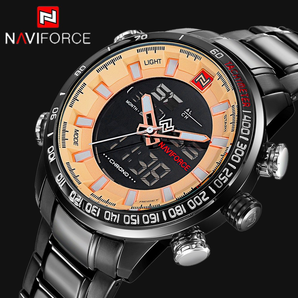 NAVIFORCE Top Luxury Brand Men Digital Sports Watches #sportswatches