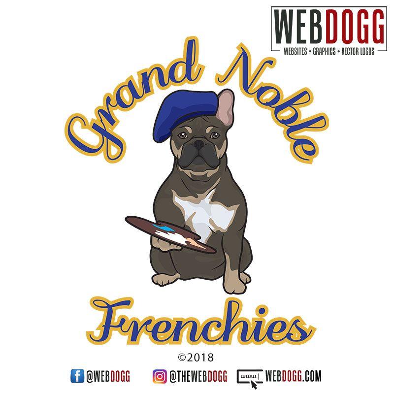 Grand Noble Frenchies French Bulldog Breeder Logo Design Logo