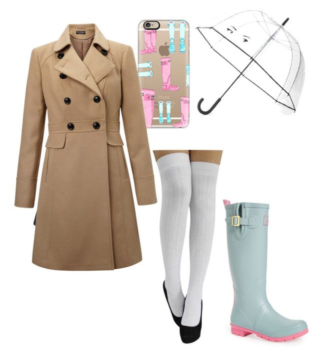 """Rainy Day"" by girlyemmaclare on Polyvore featuring Kate Spade, Joules, Casetify, LE3NO, WithChic and Miss Selfridge"