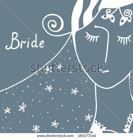 Wedding invitation with bride retro design stock vector fashion wedding invitation with bride retro design stock vector stopboris Gallery