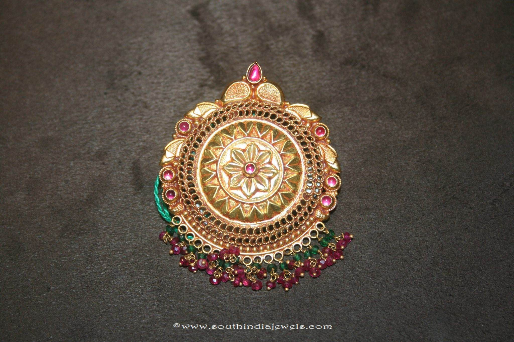 Gold antique floral pendant from prakruthi pinterest south india gold pendant designs gold antique pendant designs gold floral pendant designs aloadofball Image collections
