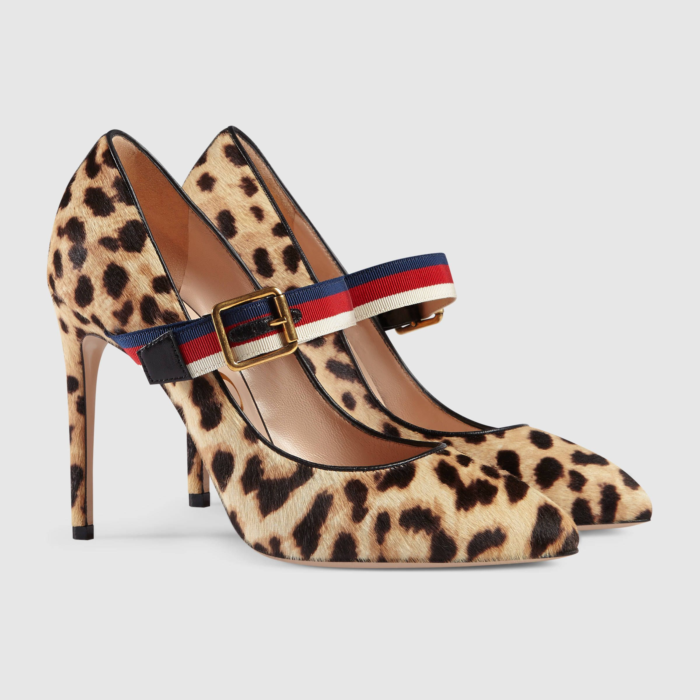 aac7bdd84 Gucci Sylvie leopard print calf hair pump Detail 2 | SHOES | Gucci ...