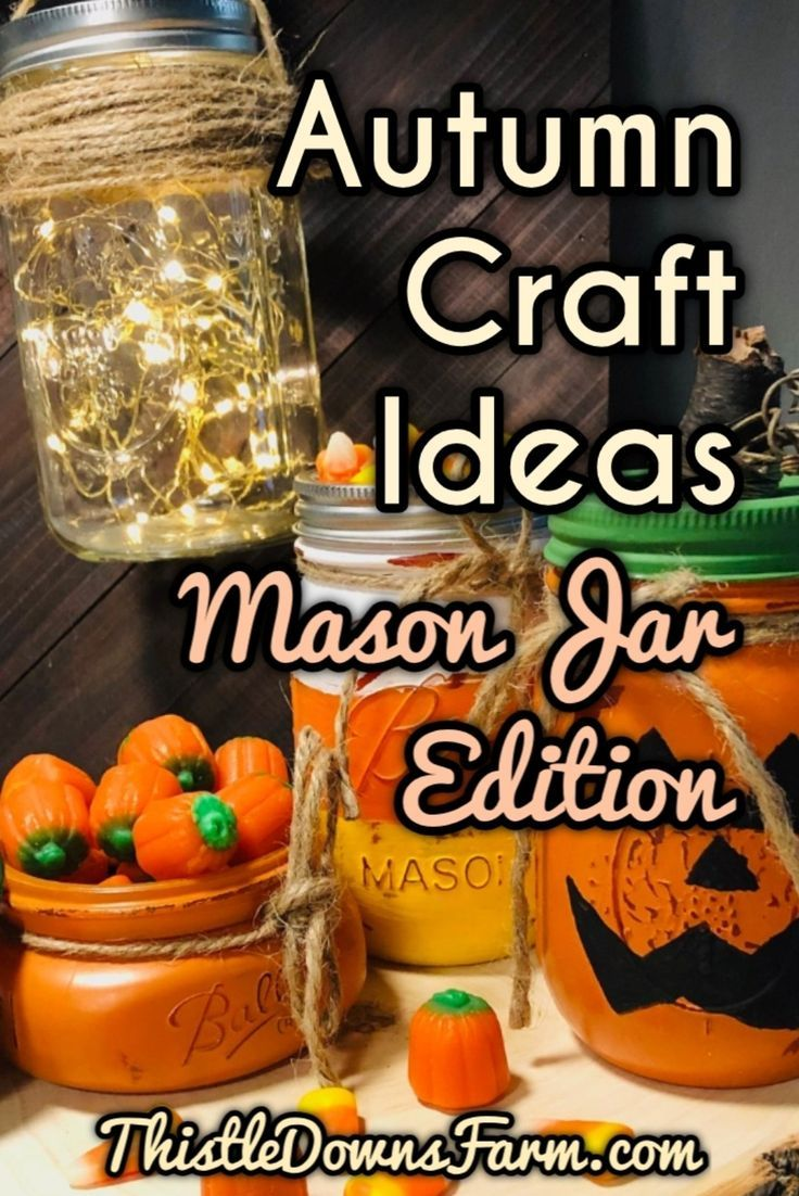 6 DIY Mason Jar Crafts for Autumn Get into the spirit of autumn with these DIY mason jar crafts! Check out these 6 mason jar decorations that you can easily make right at home! Find out more at  |