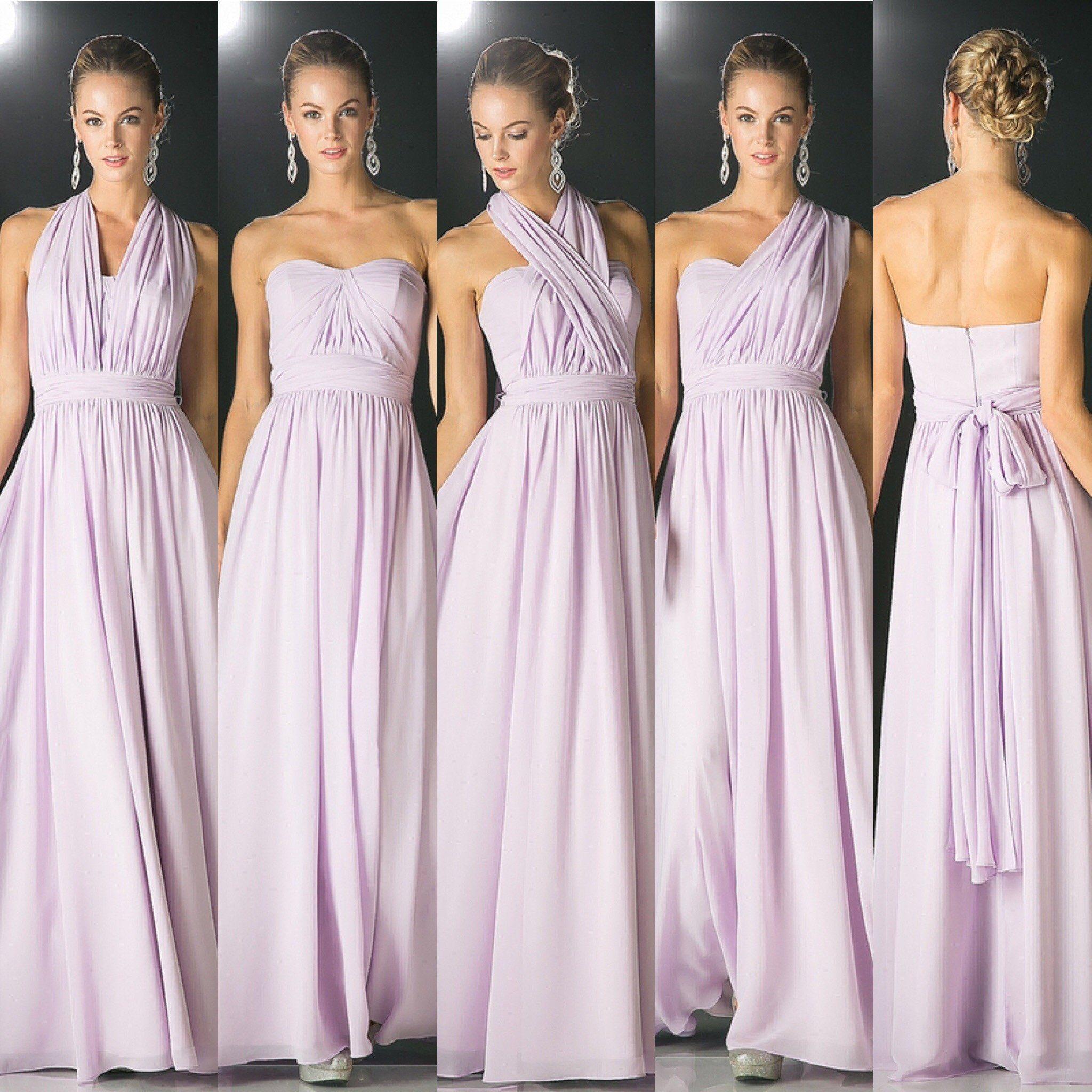 Affordable Versatile Floor Length Convertible Bridesmaid Dress 7 Colors Xs 3xl Lilac Bridesmaid Dresses Convertible Bridesmaid Dress Cheap Bridesmaid Dresses