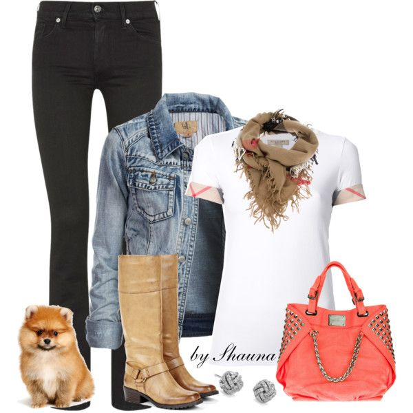 Burberry T and Boots :)