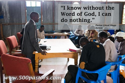 """Lloyd Mugo, a Langham-trained pastor of a small church in East Africa, has felt the impact of spiritual growth in his church and in his own life. """"By living the Word of God, my life has been transformed. I know without the Word of God, I can do nothing."""" He goes on: """"People who have been in the Langham Preaching Club, they are preaching what the Word says. We are not after anything except the Word of God."""" Help us equip 500 pastors just like Lloyd Mugo! Visit www.500pastors.com."""