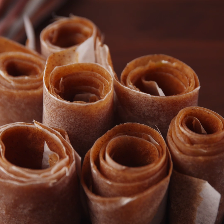 Apple Cinnamon Fruit Roll-Ups #homemadesweets
