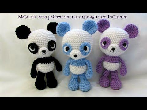 Pandabär Häkeln Häkeln Pinterest Häkeln Häkeln Ideen Und