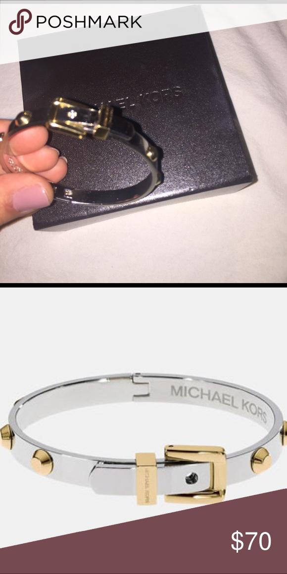 Michael Kors Belt Bracelet Silver And Gold Michael Kors Belt