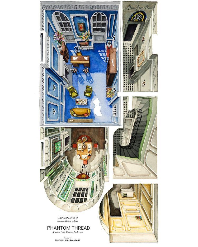 Illustrated Floor Plans Feature Architecture And Set Design Of Beloved Films Beloved Film Floor Plans Floor Plan Design