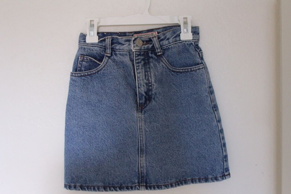 casual shoes select for clearance on sale Vintage Guess Denim Jean Skirt size girls 10 fits women xxs ...