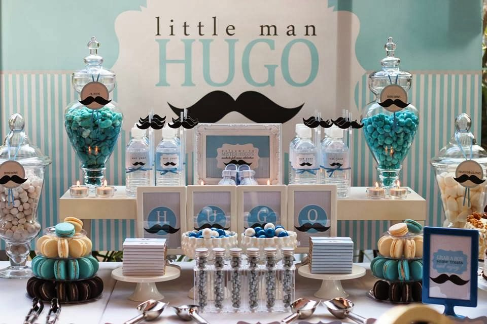 Nice Little Man, Gentleman Mustache, Tiffany Blue, Baby Shower