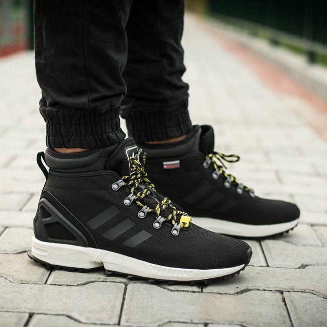 New Adidas Originals Zx Flux Black Winter Boot Shoes Size 10 Black Winter Boots Adidas Zx Flux Adidas Zx Flux Men