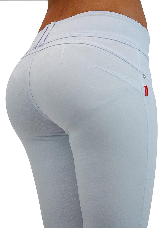 Photo of Premium Stretch Cotton- Butt lift- Levanta Cola- Skinny Leg Fashion Pants – Whit…