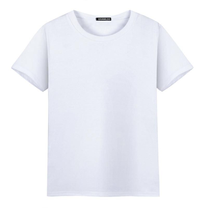 8ae8bb5c0e8 Givanildo Blank Men T-shirt Homme Clothing Short Sleeves Tshirt Undershirts  Solid Cotton Mens Tee Shirt Summer Cheap BY164