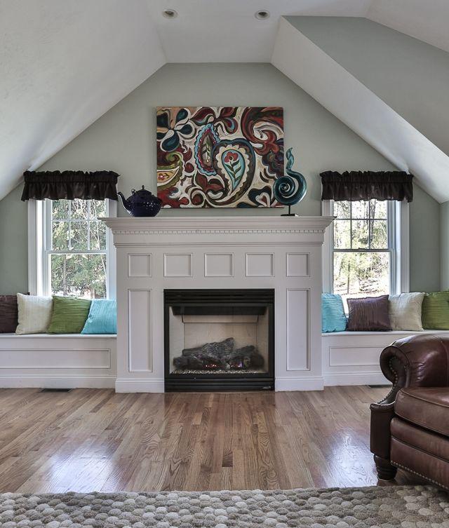 Love The Window Seats Beside Fireplace