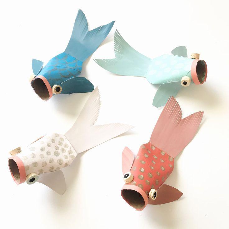 Photo of Paper Tube Koi Fish | Klopapierrollen basteln, Fische basteln und Basteln mit papier