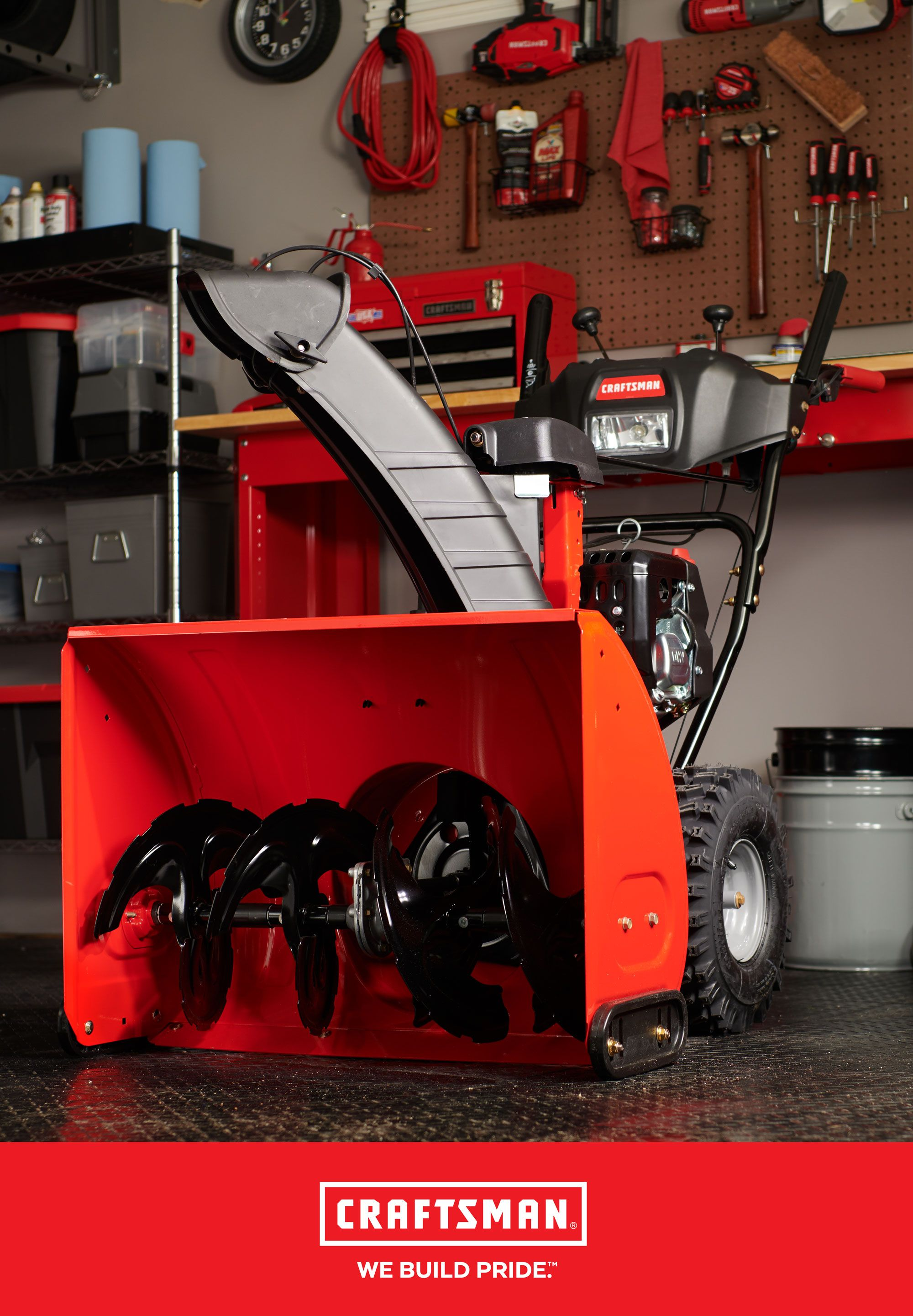Tis The Season To Make Sure Your Snow Blower Is Ready With The New Craftsman 28 In 243cc Electric Start Two Stage Snow Blow Snow Blower Front Yard Craftsman