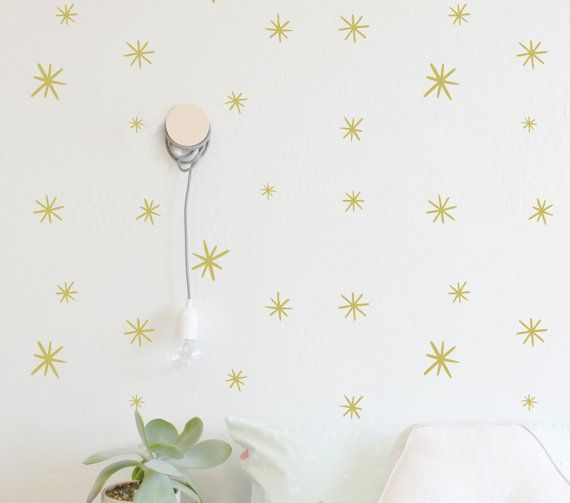 Marker Starbursts Ranging In Sizes From  Fully Removable - How to get vinyl decals to stick to textured walls