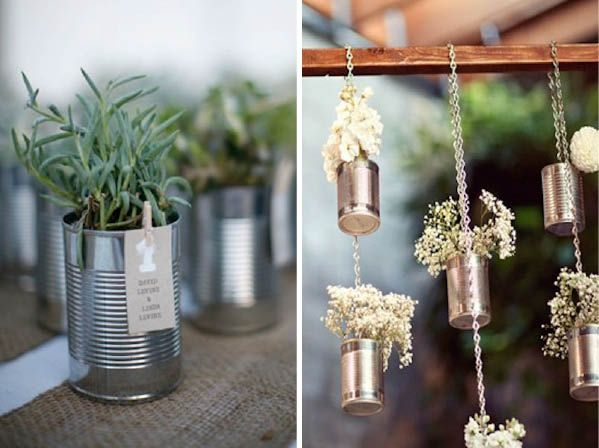 5 ideas for using metal cans as decoration | Wedding ideas ...