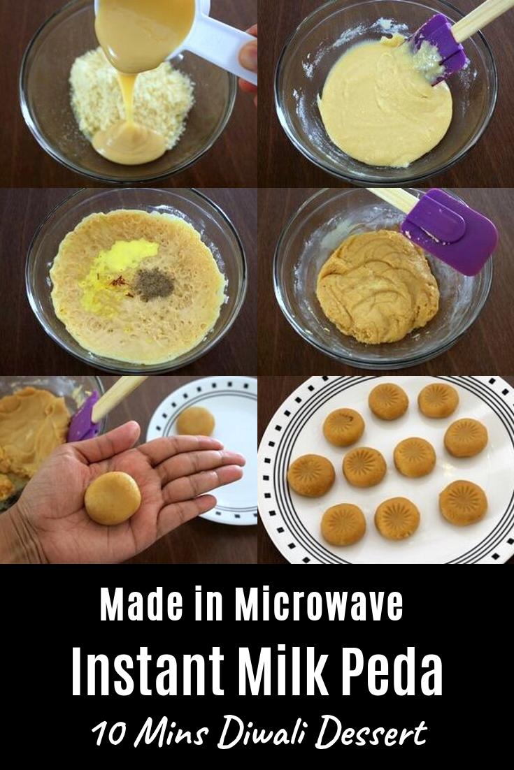 Doodh Peda Recipe Milk Peda 3 Ingredients And 10 Minutes Recipe Indian Dessert Recipes Food Videos Desserts Indian Desserts