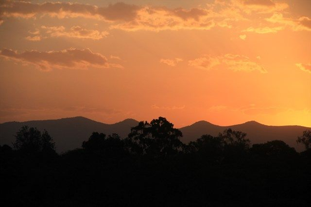 Sunset over the Ngong Hills