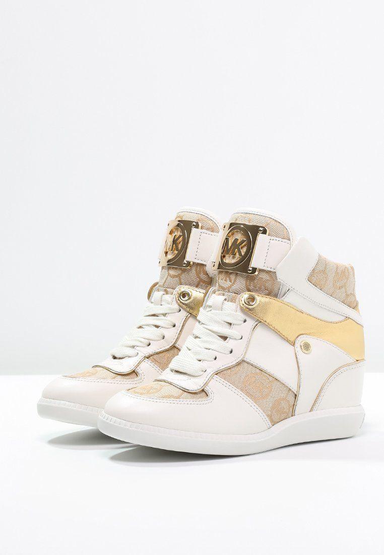 2e66b7d2a7f MICHAEL Michael Kors NIKKO - Sneakers hoog - beige/camel/gold - Zalando.nl