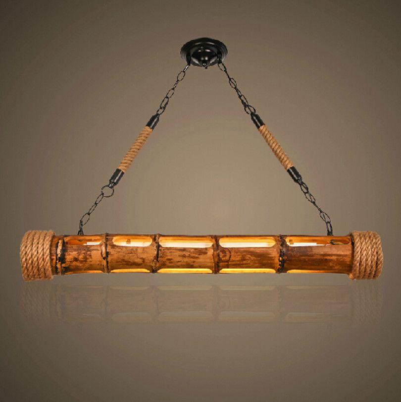 Rustik Ahsap Aydinlatma Edison Dekor Aydinlatma Bambu El Sanatlari Bambu Mobilya Aydinlatma Elemanlari