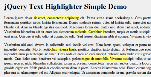 Jquery Highlight Selected Text