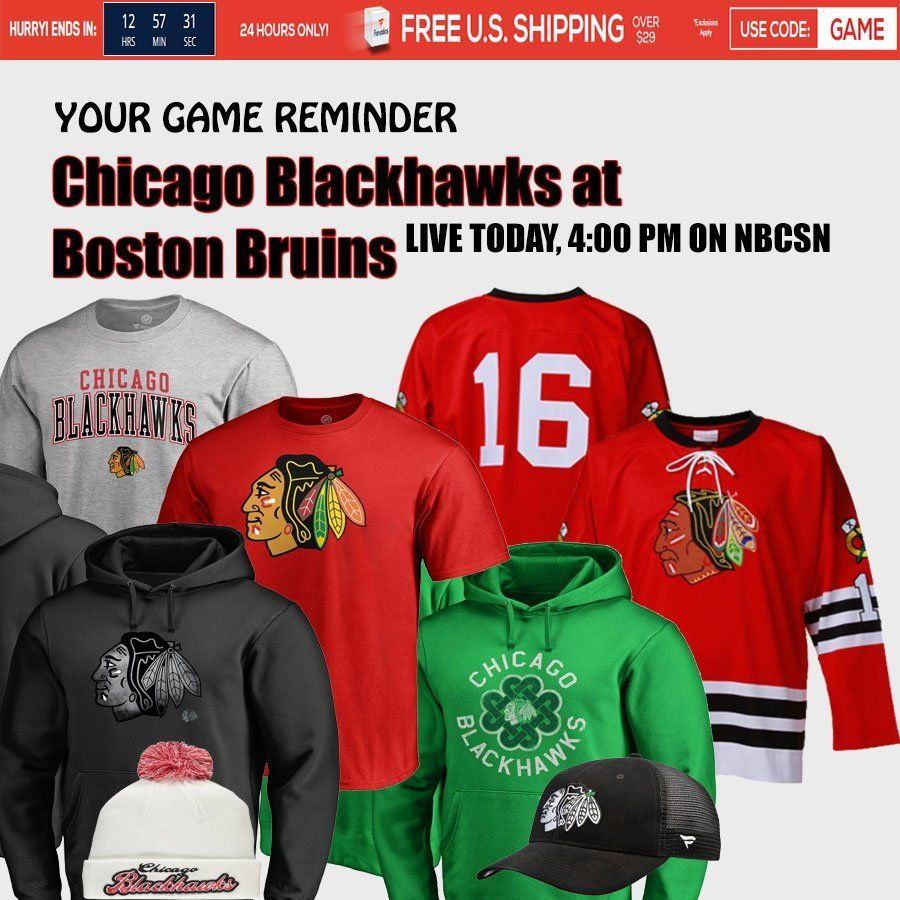 a6dacbd66 Chicago Blackhawks at Boston Bruins TODAY