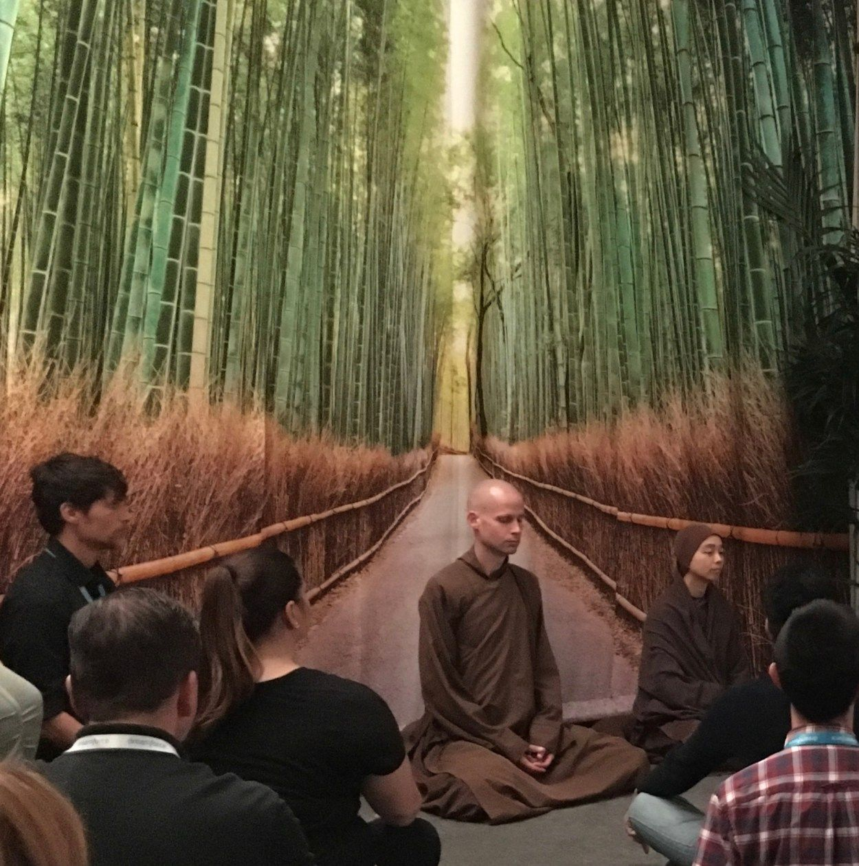 Guided Mindfulness Meditation with monks at Dreamforce ...