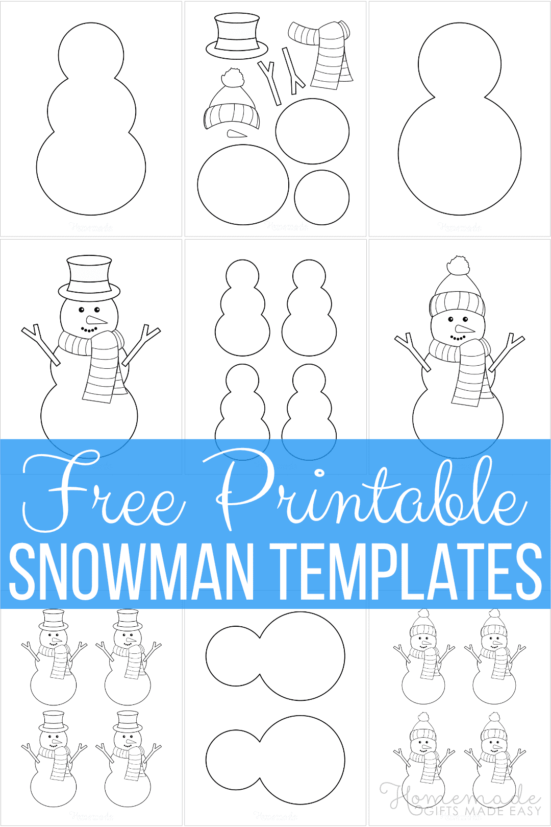 Free Printable Snowman Templates For Crafts In 2021 Snowman Coloring Pages Printable Snowman Snowman Outline