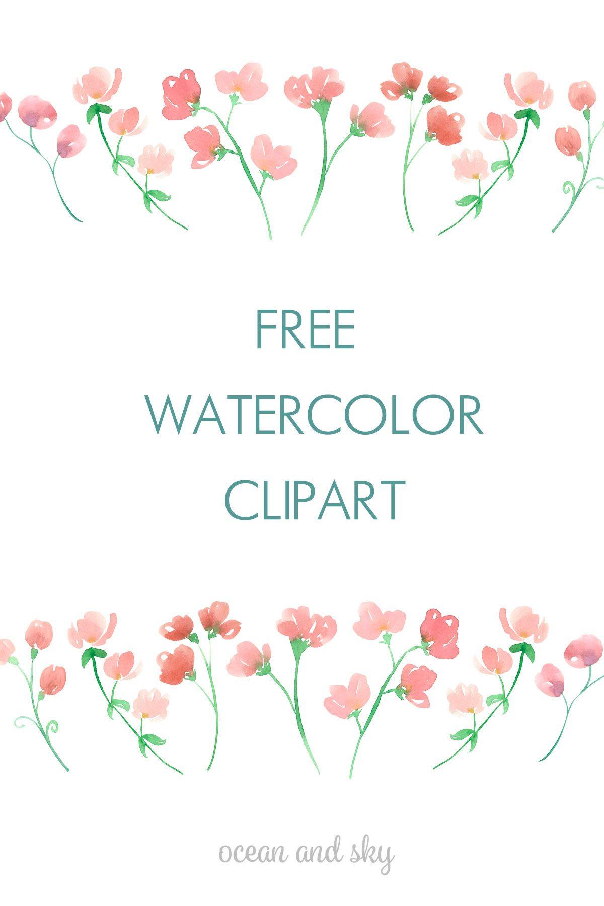 Free Tropical Watercolor Flower Clip Art Free Watercolor Flowers