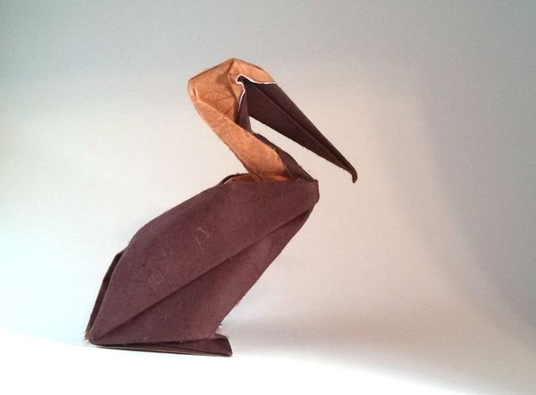 Origami Pelican By Hoang Tien Quyet Wet Folded From A Square Of