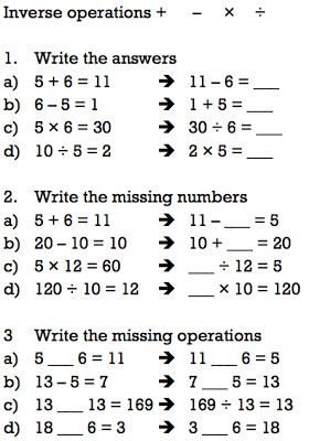 rogradymaths: Inverse operations | Third grade math, Solving ...