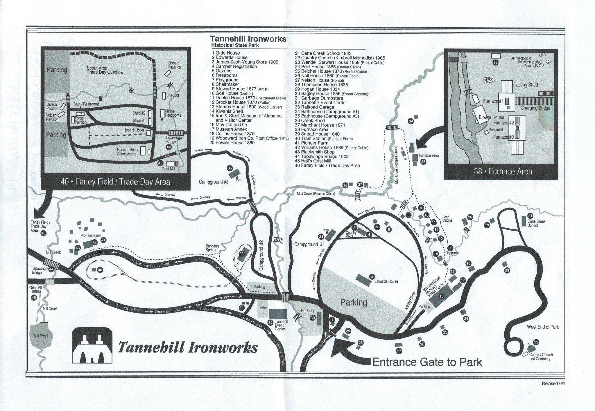 Tannehill Ironworks Historical State Park Map