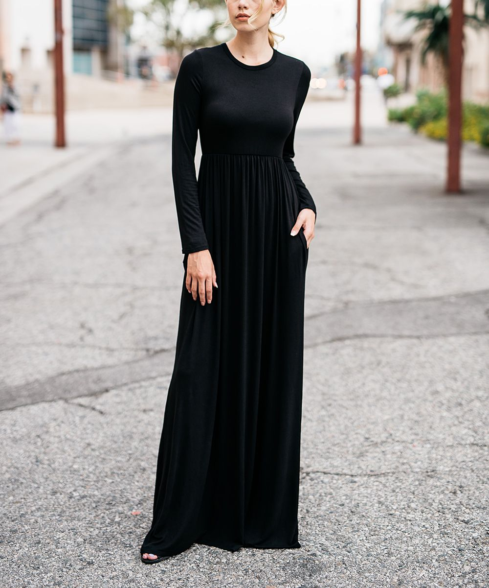 Black hiddenpocket maxi dress products pinterest maxi dresses