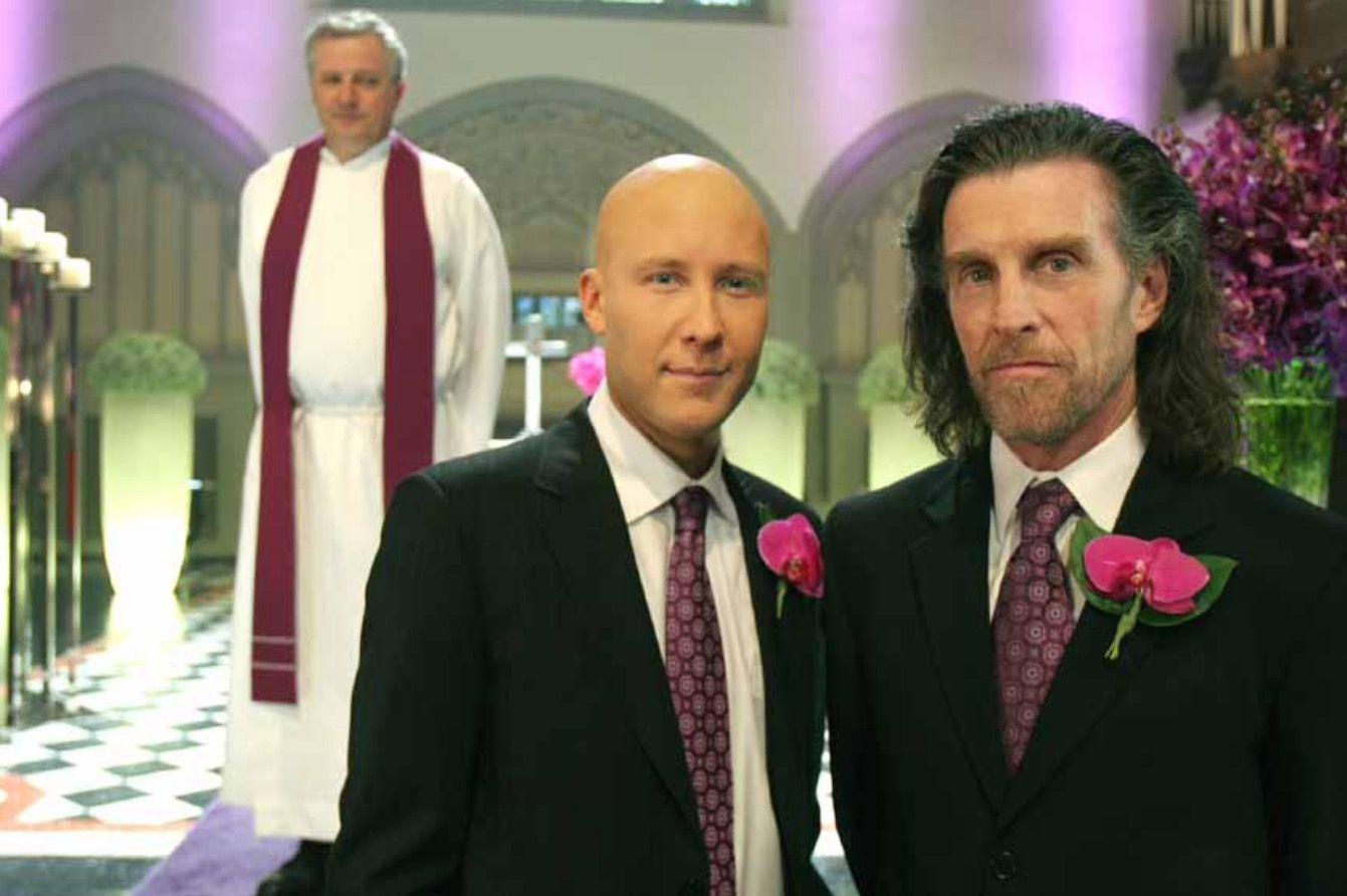 Michael rosenbaum and john glover shooting lex's wedding