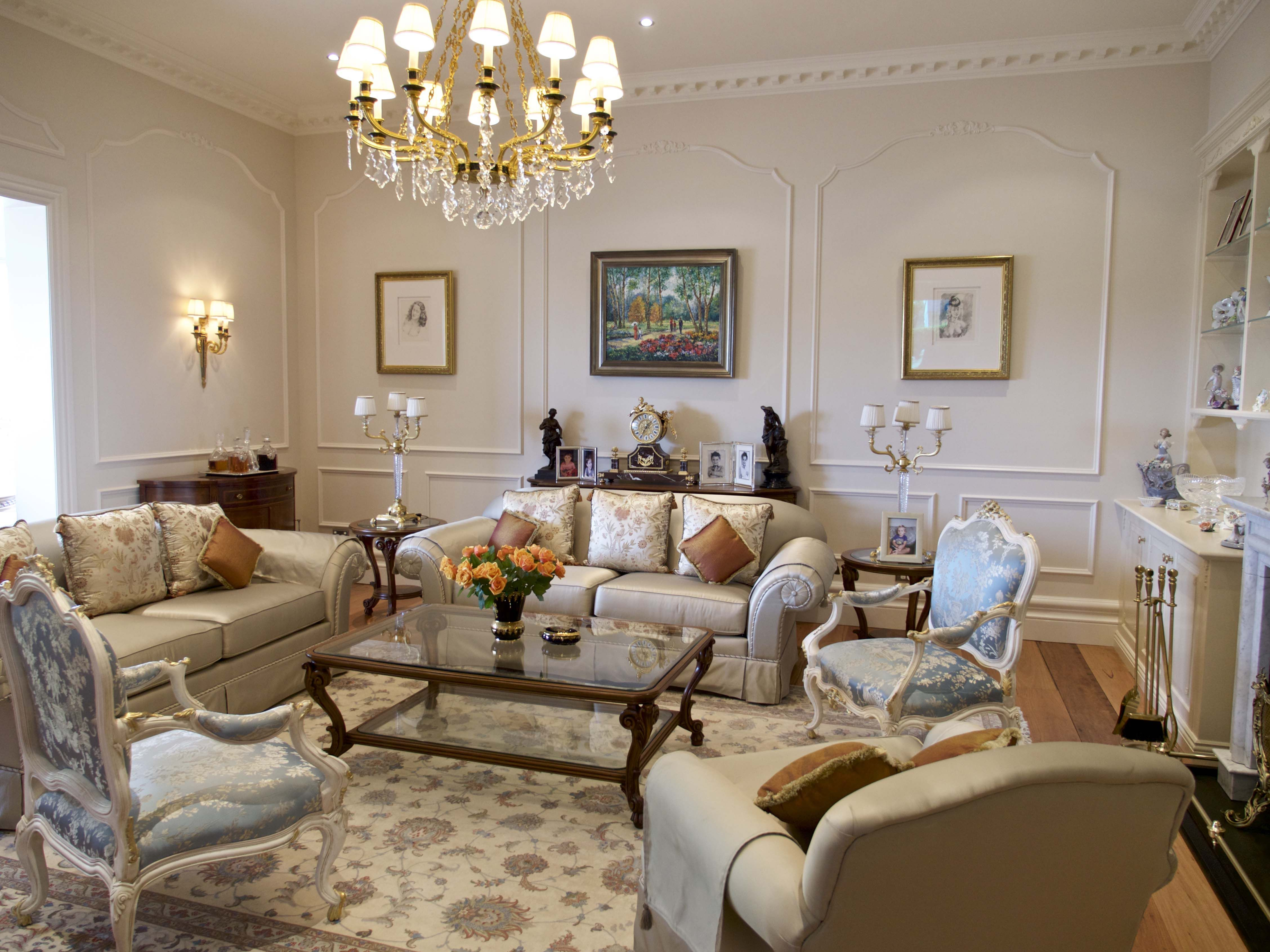 Formal Louis style salon - French provincial style in Sydney ...