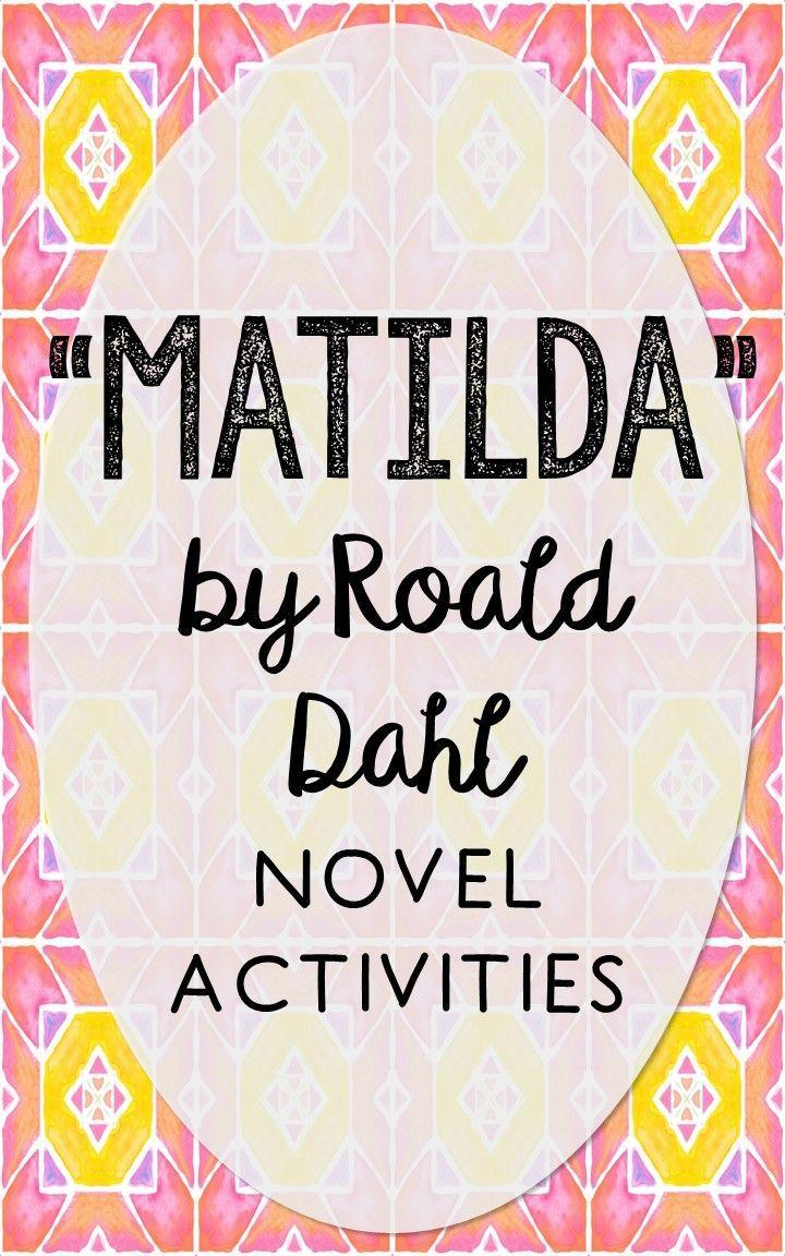 Matilda Novel Unit Study Activities Book Companion Worksheets