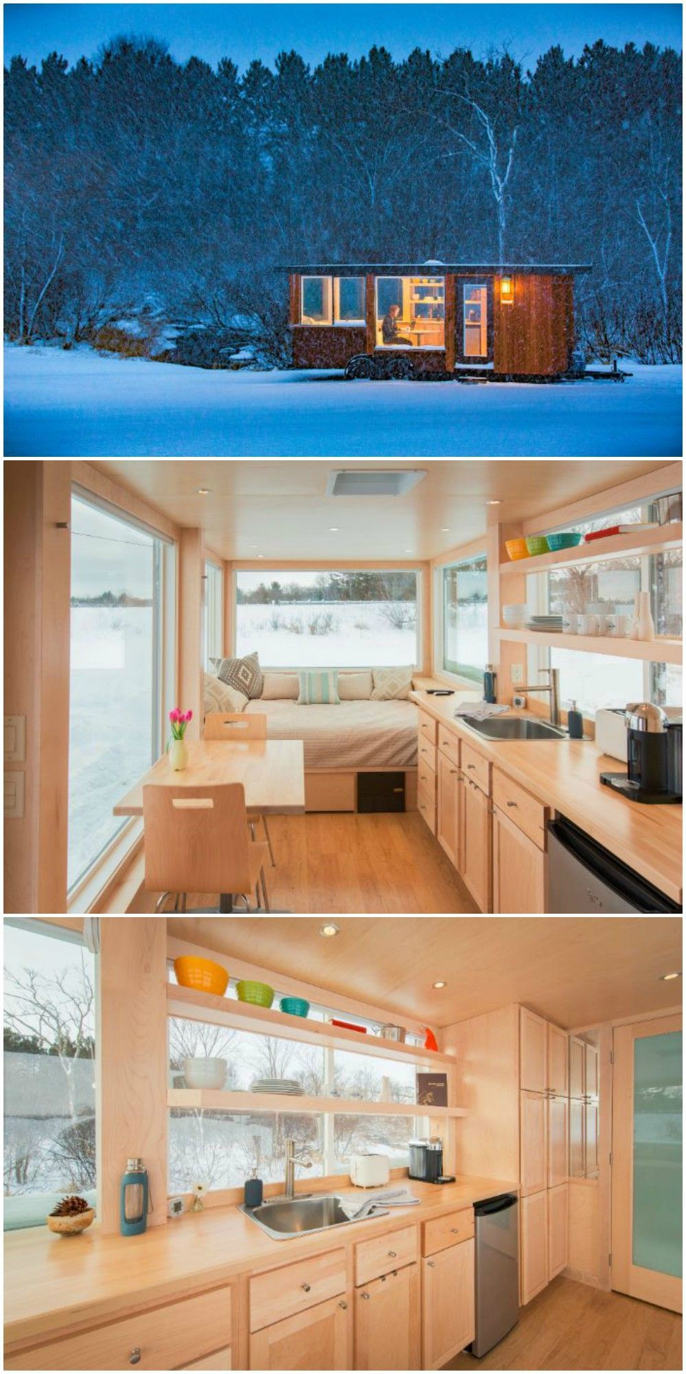 The tiny house Vista draws the outdoors in #tinyhouses