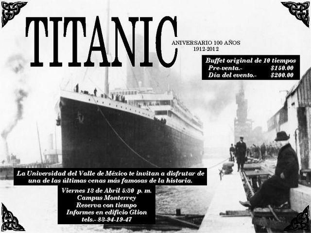 Titanic - el buffet original de 10 tiempos / UVM / Mty / 13 abril