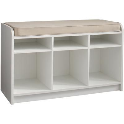 Martha Stewart Living White Storage Bench With Seat And Cubbie Storage 490300 Home Depot Canada White Storage Bench Kitchen Storage Bench Storage Bench
