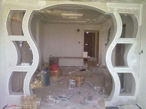 Livingroom Dining Archway Installed With Pop False Ceiling False Ceiling Design False Ceiling Bedroom
