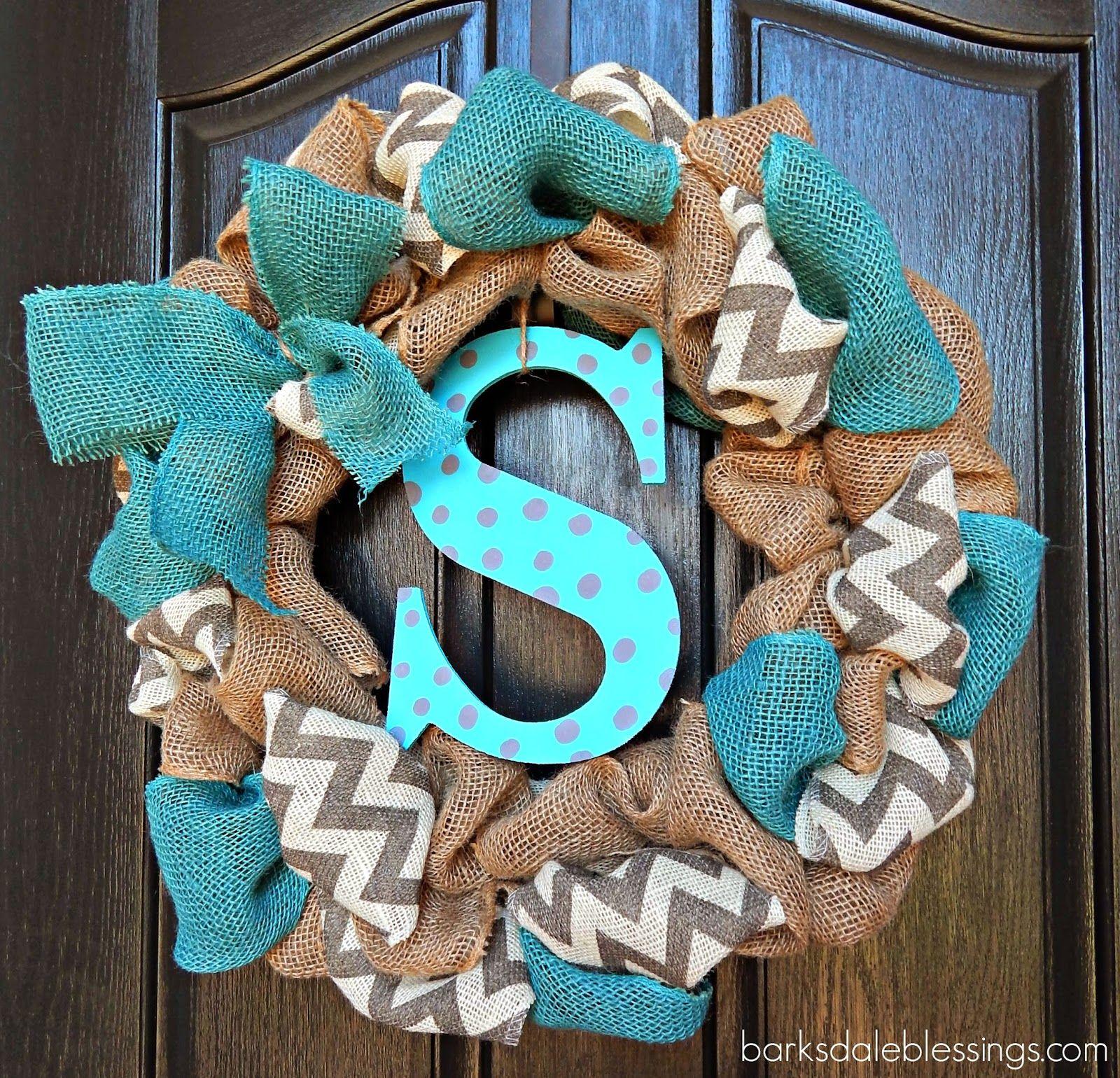 Barksdale Blessings DIY Burlap Ribbon Wreath Burlap